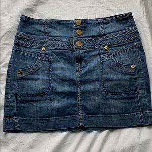 Guess Jeans button fly jean skirt size 31